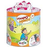 Aladine - Stampo Minos Fées - Kit Tampons Enfant - Activités Manuelles Fille et Garçon - Encre Lavable - Jouets et Jeux Créat