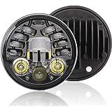 12 V Motorfiets Koplamp Ronde LED Rijden Lamp Hoofd Lamp Fit voor 5.7 inch, Retro Richtingaanwijzer