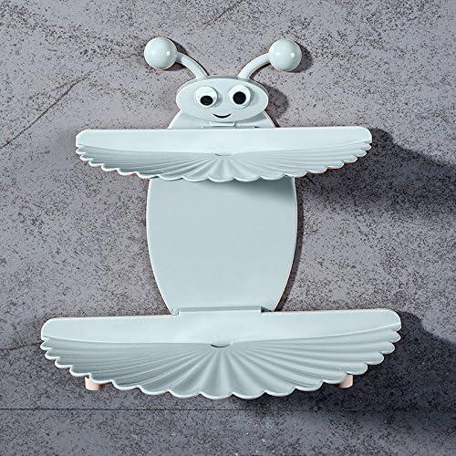 GTVERNH-Il Bagno Punch Gratuito Doppio Stronzo Scatole Creativo Muro Muro Muro Impiccagioni Sapone Rack Lishui Soap Box Bagno.Blu e54854
