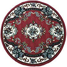 chinese garden tapis rond 120 x 120 cm color rouge dys - Tapis Rond Color