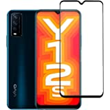 CEDO Vivo Y20 / Y20i / Y20G / Y12s Tempered Glass   Screen Protector Full Glue Coverage Edge to Edge Tempered Glass for Vivo