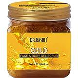 DR.RASHEL Gold Gel Scrub For Face & Body (380 Ml)