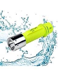 LED Tauchen Taschenlampe 600 LM Unterwasser Taschenlampe Wasserdicht für Sporttauchen Outdoor Unterwassersport, Nacht, Jagd, Rettung, Camping, usw. Super Hell