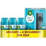 Air Wick Freshmatic - Aparato y Recambios de ambientador spray automático, esencia para casa con aroma a Oasis Turquesa - 1 a
