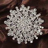 Generic NV _ 1001005497_ YC-UK2scarfilv flores Vintage tal F Wedd ramo bufanda de cristal broche Diamante Vint tarta boda rooch plata grande D