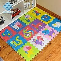 Preisvergleich für weiche Baby Kinder Play Matte Gym Schaum Alphabet 12Stück jeder Stein 30cm x 30cm Leseeinheit Dick mit Muster Oberfläche strukturiert