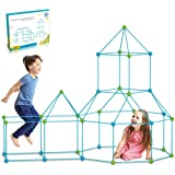 DIY Forts Steckstabbaukasten, Kids Fort Builder,Play Tent, Spielzelt, XXL Kantenmodell, Konstruktionsspiel, DIY-Bauspielzeug,