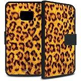YOUNiiK Booklet Case Tasche (schwarz) für Samsung Galaxy S7 - Leopard