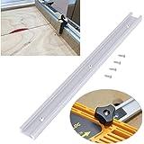 T-Track 400 mm, universal T-spår, kraftig gerings-stång, T-rail glidare geringskonsol bord, med $ st självtejpande skruvar, f