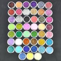 45, motivo: Authentic BF-Glitter polvere di stelle per Nail Art, decorazione di perline in Gel UV acrilico antipolvere, confezione convenienza