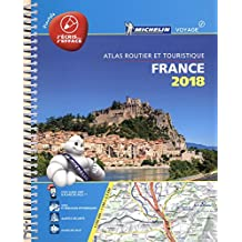 France 2018 -Tourist & Motoring Atlas A4 Laminated Spiral (Michelin Road Atlases)