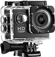 SJ4000X Action Camera impermeabile Fotografica Sportiva DV, Fotografica d'azione Esterna Videocamera HD 1080P, Schermo Alta