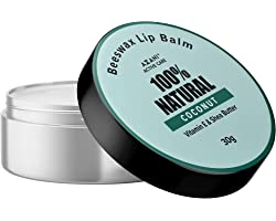 Azani Active Care 100% Natural Beeswax Coconut Lip Balm - 30 gm for Dry & Chapped Lips | Moisturizing Lip Care with Beeswax,