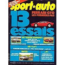 SPORT AUTO . N° 269 . Juini 1984 . Porsche Paris Dakar . Visa 1000 Pistes . Alfa 33 4x4 .