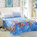 Puro algodón tela cruzada lino/Pedazo de hojas de doble cama de algodón pesado del sola del-D 230x245cm(91x96inch)