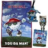 You Da Man Golf Towel, Tee Bag, Ball Marker, Divot Tool With Brush Bundle
