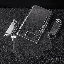 Leoie 3-Part Design Transparent Protective Cover + Tempered Glass Screen Protector For Nintendo Switch Transparent Black