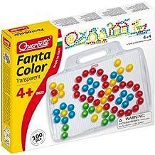Quercetti Fantacolor 0652 - Juego de piezas para crear figuras (100 piezas, 20mm)