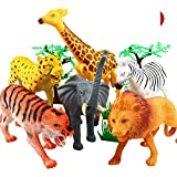 Funny Teddy Educational Learning Game Wild Realistic Animal Toy Set with Jungle Wallpaper (Multicolour, waetve354rxtaeyeyhcse) - Pack of 20