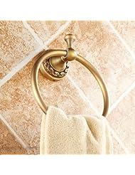 Anillo de toalla Anillo de toalla de cobre colgante de estilo europeo colgante de baño