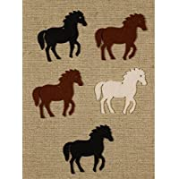 Bastelfilz Figuren Set - Pferd. Filz, Textilfilz, Streudeko