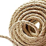 100% Natural Hemp Ropes - 6mm Thickness and Strong Jute Rope,Camping Rope,Multi Purpose Utility.(50 Meter)