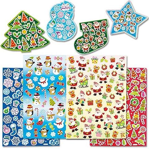 Adesivi natalizi per bambini (confezione risparmio da 280)