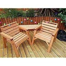 Sólido de madera muebles de jardín compañero amor Set. * Super resistente *