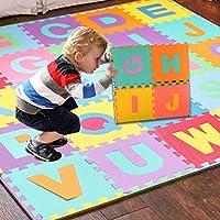Preisvergleich für MEMORY FOAM Matte artistic9(TM) Stricknadel Alphabet Zahlen EVA Boden Play Matte Puzzle für Baby-Raum