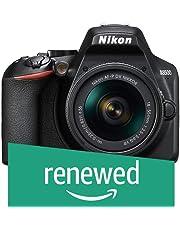 (Renewed) Nikon D3500 W/AF-P DX Nikkor 18-55mm f/3.5-5.6G VR with 16GB Memory Card and Carry Case (Black)