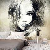 Fotomural 200x140 cm - 3 tres colores a elegir - Papel tejido-no tejido. Fotomurales - Papel pintado - Retrato Cara h-B-0020-a-b