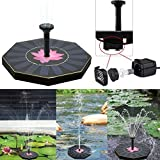 PinkdoseWater Floating Pump Solar Power Fountain Pool Garden Plant Watering Kit for Fountains Waterfalls