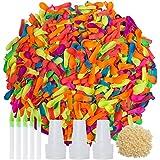 1000 stuks veelkleurige latex waterballonnen met navulkits, Zelfdichtende gemakkelijk en snel vullende bosballonnen Waterbommen,voor kinderen en volwassenen Zomer Outdoor Water Bomb Fight Games