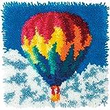 "Latch Hook Kit 12""X12"" - Hot Air Balloon"