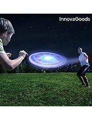 InnovaGoods ig812553Frisbee con LED, Unisex Adulto, Multicolore, Taglia Unica