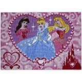 Associated Weavers P19 - Alfombra infantil (95 x 133 cm), diseño de princesas Disney