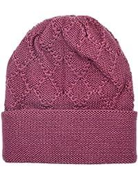 Gajraj Women's Woolen Skullcap (Pink, Free Size, GHF013)