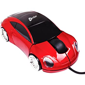 Enter USB Optical Car Mouse - ES-20U Red
