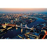 Fototapete London bei Sonnenuntergang Wand-dekoration - Wandbild Metropole Poster-Motiv by GREAT ART (210 x 140 cm)