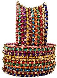 Swara Creations Metal Brass and Kada Set for Women (Set of 24)