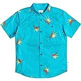 قميص أولادي من Quiksilver قميص أطفالي بأكمام قصيرة منسوج بأزرار سفلية