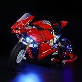 LIGHTAILING Set di Luci per (Technic Ducati Panigale V4 R) Modello da Costruire - Kit Luce LED Compatibile con Lego 42107 (No