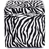 DESIGN SITZWÜRFEL WILDLIFE | 40x40x40 cm, Tierfelloptik, Zebra, schwarz, weiß | Sitzhocker - preisvergleich