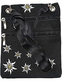 German Wear Trachtentasche Dirndl Taschen Trachten Baumwolltasche Schwarz