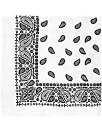 """Large Paisley Bandana Bikers Head SCARF in 3 Colours Soft Lightweight 24"""" x 24"""""""