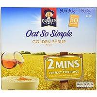 Quaker Oats Oat So Simple Golden Syrup Flavour - 1 x 50 sachets