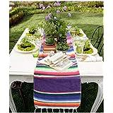 Awtlife - Camino de mesa mexicano (35 x 213 cm, yute natural para bodas, festivales, eventos, decoración de mesa