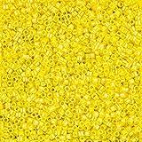 Miyuki Delica Tamaño de cuentas redondas 10Opaco Amarillo AB 7,2g