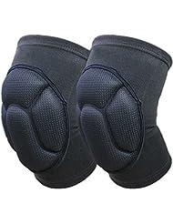 Ueasy Renforcer Genouillère Genouillère respirant Jambes anti-chute à manches genou de protection pour une paire