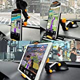Ceuta Retails®, Car Tablet Mount Holder, Windshield/Dashboard Universal Car Tablet Mobile Phone/Device Cradle for iOS/Android Tablet, iPad, Smartphone and More